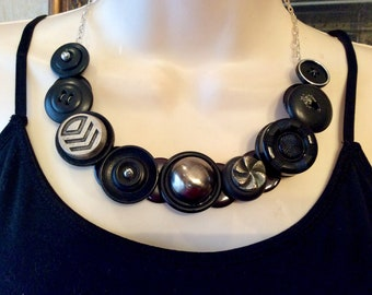 Industrial Style button necklace