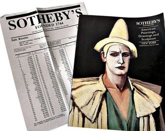 Sotheby's NY Auction Catalog 1992 —American Paintings Drawings & Sculpture  - Quality Color Plates for Re Purposed Art - Reference