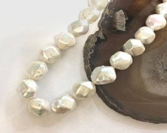 Cultured Freshwater Pearl Faceted Beads
