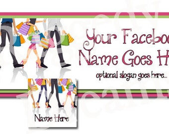 Boutique Teenage Shoppers Facebook Timeline Cover - Matching Profile Photo Cover - Profile Page