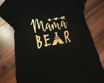 Mama bear women's tee