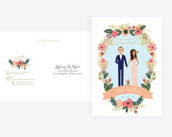 RSVP Postcard /// ANY Design Convert RSVP to Postcard