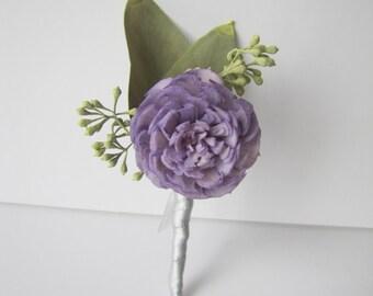 Lavender Sola Flower Boutonniere - Lavender Wedding Boutonniere - Lavender Wedding - Men's Boutonniere Prom Boutonniere Keepsake Boutonniere