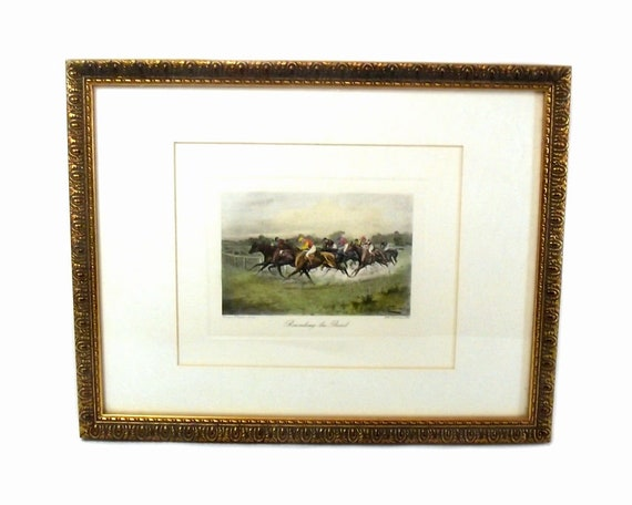 Rounding the Bend Engraved by G.E. After a Picture by George Wright