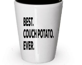 Couch Potato Shot Glass, Best Couch Potato Ever, Couch Potato gift, Gift for Couch Potato , Birthday Gift, Christmas Present