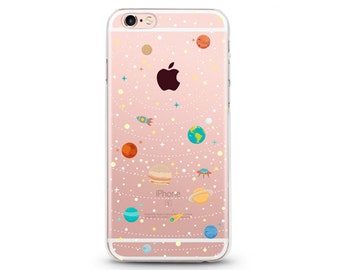 Some Space - iphone 6 case, clear iphone 7 case, clear iphone 5 case ,slim iphone 8 cases, Hard Iphone 7 case