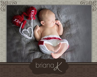 PATTERN Instant Download, Newborn Knit Baby Boxer Gloves and Boxing Shorts