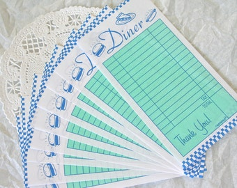 15 Retro Style Diner Order Ticket Stubs