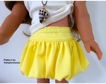 """1831, Bubble Skirt, Valspierssews Doll Clothes Pattern, Fits popular 18"""" dolls and 20"""" dolls, PDF Instant Download"""