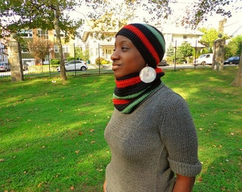 Family Reunion Bailout, Crochet Winter Cap and Neck Cowl Set