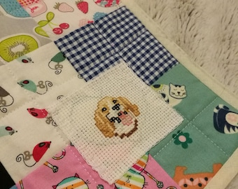 Raining Cats and Dogs Cot Quilt