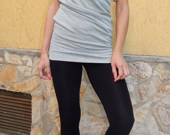 Oversize Asimmetic Tunic/ Top / Cotton dress / Loose Woman Tunic / Cotton Blouse