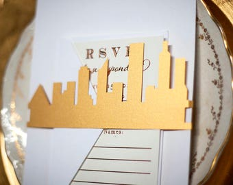 Custom City Laser Cut Belly Band, Gold, Silver, or Custom Color