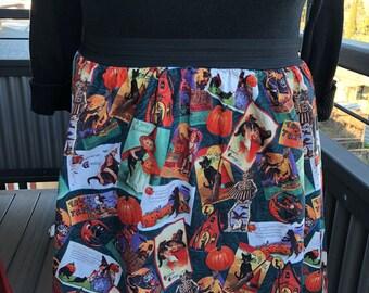 Vintage halloween jupe élastique à la taille XL
