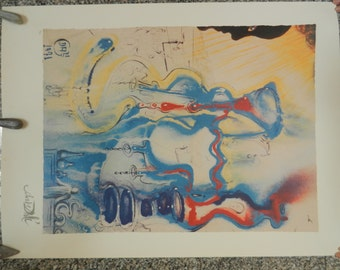 "DALI print ""THE PHARMACIST"" 1 st edition lithograph print with authenticity 76/500"