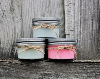 set of 4 oz scented candles