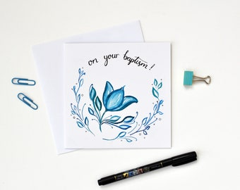 On Your Baptism Card - Scripture Art - Christian Gifts