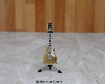 Handmade miniature guitar pendant necklace
