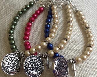 Military Love bracelet, Army, Marines, Air Force