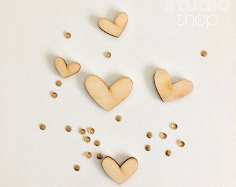 099-Soul Related wood hearts
