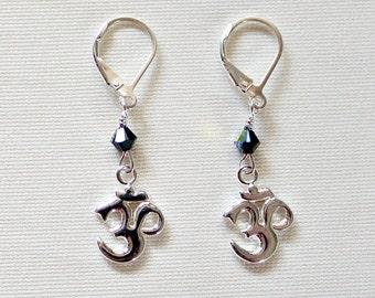 Mindfulness Gift,Om Earrings,Jewelry,30th Birthday Gift,Jewelry,For Her,For Yogi,Birthday Gift,For Yoga Instructor,Yoga Jewelry,Unique,Gift