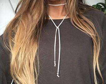 White Trendsetter Choker Necklace
