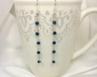 Delicate Crystal Drop Earrings