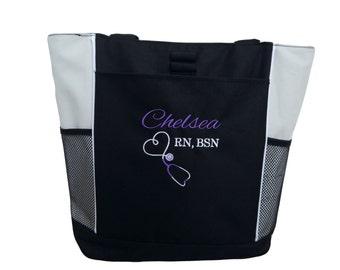 Tote Bag Personalized Nurse Student RN BSN CNA Lvn lpn Nicu Cardiac Respiratory Care er Department rt Nursing Respiratory Pediatric