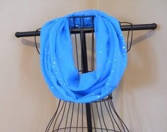 Stoff-Infinity Schal reine Türkis Sparkle