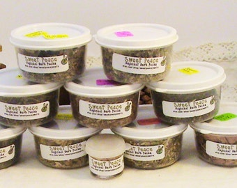 11 pc  Wiccan/Pagan Herbs- Wiccan Altar Kit w/ Free Bonus-Frankincense tears Resin, wiccan herbs,  earth magick, altar tools, spell magic,