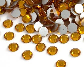 Topaz Glass Rhinestones for Embellishments 2-6mm