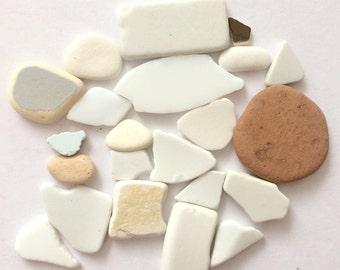 Beach Pottery, Sea Pottery, Tumbled Ceramic, Ceramic Shards, Pieces of Sea Pottery