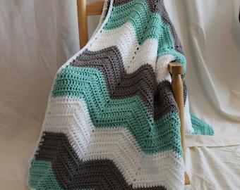 Chevron Afghan, Baby Blanket