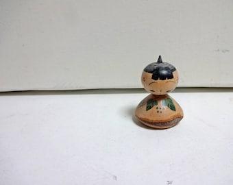 1.5inch Vintage Japanese Miniature Wood KOKESHI Doll