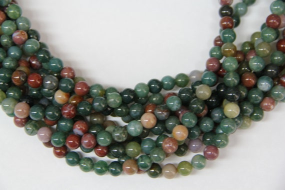 """India Agate 8mm smooth round beads 16"""" length full strand"""