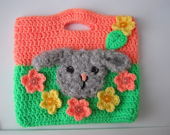 Bags for children, knitted bag , children's gift,presents little fashionistas, crochet baby purse, knitting for children, ready for delivery