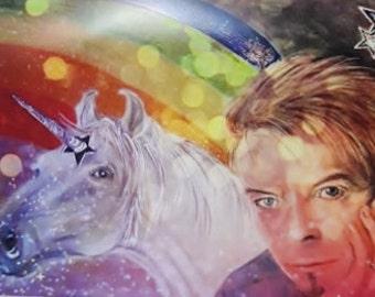 David Bowie/Unicorn Fridge Magnet