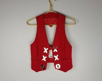 Vintage 1980s MOSCHINO Cheap and Chic ref xxo heart vest