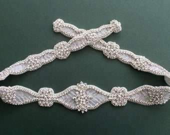 Diamanté Bridal Belt Or Sash - Made To Measure - ERICA