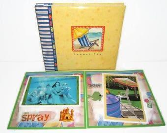 Vacation Scrapbook Album - Summer Scrapbook Album - Beach Scrapbook Album - Pool Party Scrapbook Album - Birthday Pool Party Scrapbook Album
