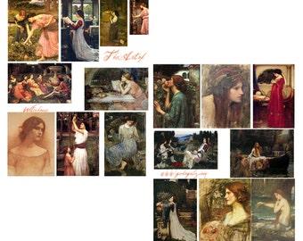 The Art Of Waterhouse Digital Collage Set