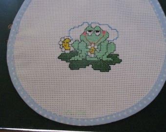Baby bib - Froggy on a pad