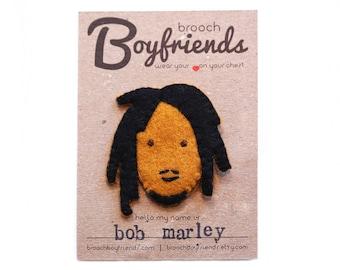 Bob Marley Brooch