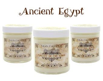 Soy Candles Handmade, Ancient Egypt Set, Egyptian Decor 3 x 4oz History Buff Gifts