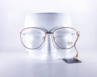LUXOTTICA Vintage Eyeglasses JBoys 57 G216 GEP 18K Made in Italy Unisex Metal NOS Deadstock - LUXF464Y-1