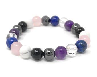 Migraine Bracelet - Headache Bracelet - Crystals for Headache - Power Bead Bracelet - Size choices