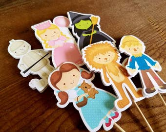 Oz Friends Party - Set of 12 Double Sided Assorted Wizard of Oz Cupcake Toppers by The Birthday House