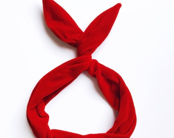 Red Velvet Wire Headband