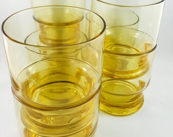 Yellow Gold Glass Whiskey Glasses 5