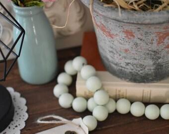 Mint Green Wood Bead Garland - Light Green Ball Garland - Key to Decor Beads Green Garland - Green Wooden Bead Garland - Green Ball Garland